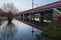 Railroad bridge freight train bypass Ricklinger Masch Ricklingen Linden-Sued Hannover Germany.jpg