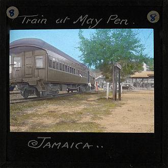 May Pen - Railway Train at May Pen Station