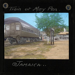 May Pen: Railway Train at May Pen Station, Jamaica (imp-cswc-GB-237-CSWC47-LS12-008)
