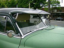 split and raked windshield on a 1952 desoto note the panes of glass are flat - Windshield Glass