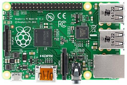 Raspberry Pi B+ top