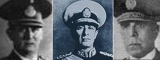 Coups d'état in Argentina - Generals Arturo Rawson, Pedro Pablo Ramírez and Edelmiro Farrell, the three consecutive dictators of the Revolution of '43.
