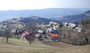 Sava Hills - Razbor, a village in the eastern part of the Sava Hills below Mt. Lisca