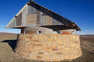 Carnarvon, Northern Cape - Reconstructed fort overlooking Carnarvan