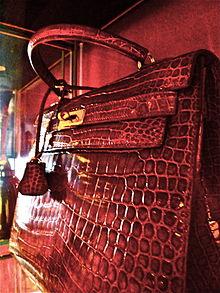 f0ff7f4669a3 Red crocodile leather Kelly bag
