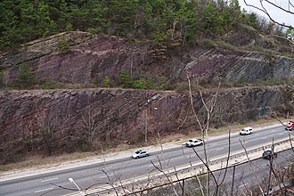 Red Mountain (Birmingham) - a portion of the Red Mountain Cut