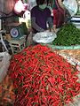 Red and green peppers on sale in Bangkok.jpg