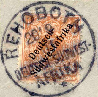 Rehoboth, Namibia - Stamps for German South West Africa postmarked Rehoboth 1901