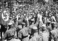 Reichsparteitag NSDAP Parade Nürnberg 1933 Adolf Hitler, Parade, Nazi Party rally, Nuremberg, Robert Sennecke, Intern. Illustrations-Verlag Narodowe Archiwum Cyfrowe 3 1 0 17 12270 33708 Marked as Public domain.jpg