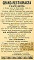 """Reklama sanockiej restauracyi i kawiarni """"GRAND"""" z 1884.jpg"""