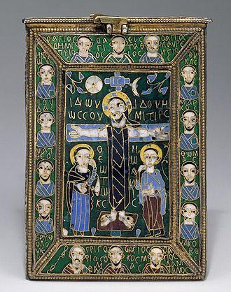 Byzantine enamel - Fieschi Morgan Staurotheke