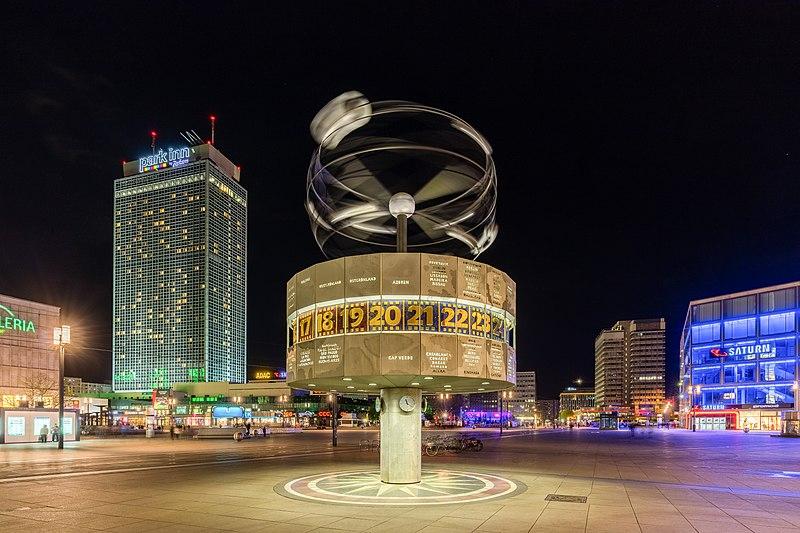 Reloj Mundial, Berlín, Alemania