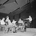 Repetitie van een orkest, vermoedelijk het Israël Philharmonic Orchestra in het , Bestanddeelnr 255-1741.jpg