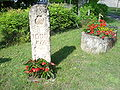 Retjons, the Compostella 1000 km waymark stone.JPG
