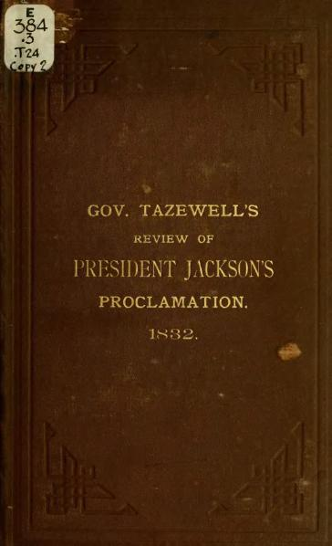 File:Review of the Proclamation of President Jackson.djvu