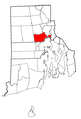 Rhode Island Municipalities Cranston Highlighted.png