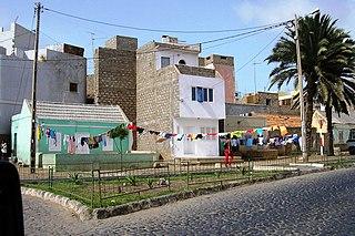 Ribeira Bote Neighborhood in Mindelo, São Vicente Island, Cape Verde