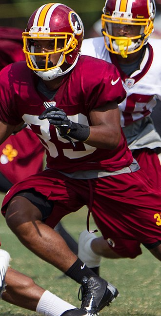 Richard Crawford (American football) - Crawford at Redskins training camp in 2012.