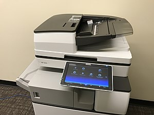 Multi-function printer - Image: Ricoh 5055 MFP