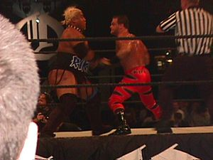 King of the Ring (2000) - Rikishi and Chris Benoit wrestling at King of the Ring.