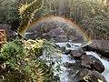 Rio de Visconde de Mauá em área de proteção ambiental (APA) de Itatiaia em um entardecer colorido.jpg