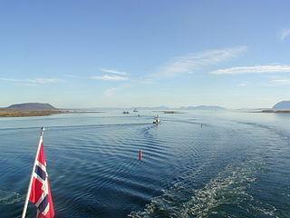 Risøysundet strait in Andøy, Norway