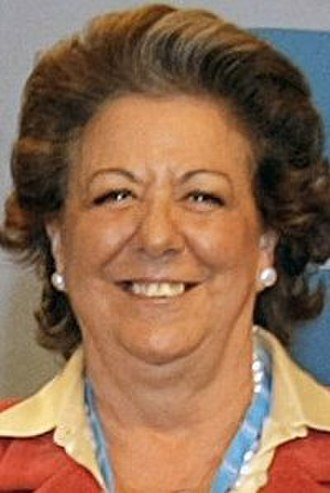 1987 Valencian regional election - Image: Rita Barberá 2014 (cropped)