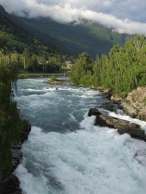 Lom, Norway - River Bøvra in Lom