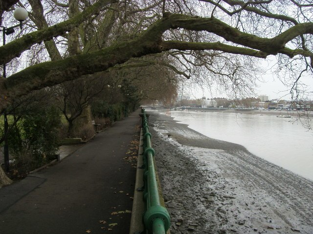 River Thames by Bishop's Park - geograph.org.uk - 1088471