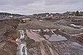 Road construction at E23 by Rudshøgda, Hedmark, Norway.jpg