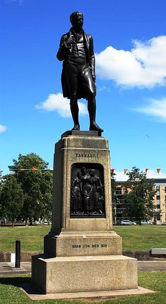 Robert Tannahill - The statue of the poet by David Watson Stevenson