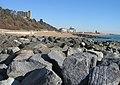 Rock groynes and Folkestone Harbour - geograph.org.uk - 726448.jpg