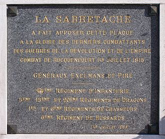 Battle of Rocquencourt - Commemorative plaque.