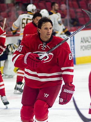 UMass Lowell River Hawks men's ice hockey - Ron Hainsey with the Carolina Hurricanes in 2014