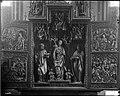 """Rosengarten evangelische Marienkirche Hochaltar geöffnet um 1510 Darstellung """"Verkündigung, Christis Geburt, Anbetung der Heiligen drei Könige, Marienkrönung"""".jpg"""