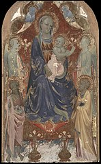 Virgin and Child with Saint John the Baptist, Saint Peter, and TwoAngels.