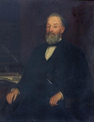 Rowland G. Hazard - Rowland G. Hazard in portrait of 1880