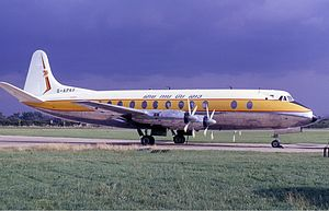 Blackpool Airport - A Royal Air Lao Vickers Viscount at the airport in 1968.