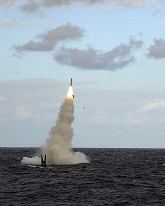 Astute-class submarine - Astute firing a Tomahawk Block IV cruise missile