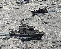 Royal Navy z łodzią patrolową albańskich sił morskich (8211785278).jpg