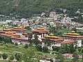 Royal Palace in Thimphu city, view from mountain, July 2016 01.jpg