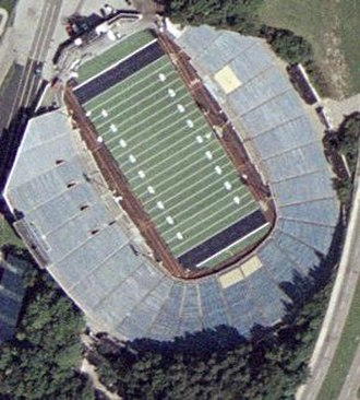 Rubber Bowl - Aerial view in 2004