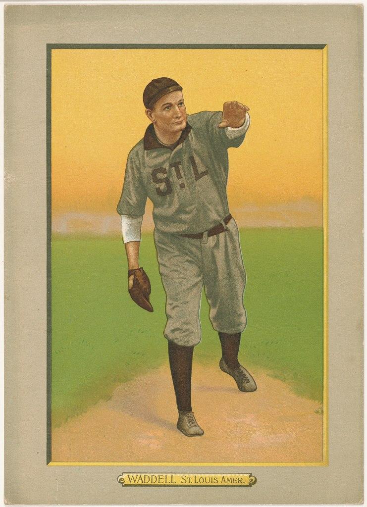 Rube Waddell, St. Louis Browns, baseball card portrait LCCN2007685703