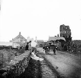 Olderfleet Castle - Ruins of Olderfleet (circa 1860-1883).