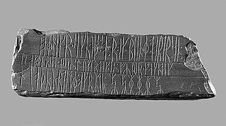 Kingittorsuaq Runestone - Image: Runesten fra Kingittorsuaq