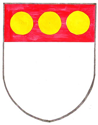 Bezant - Arms of Sir John Russell, a 13th-century English courtier.
