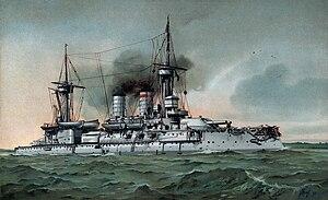 SMS Kurfürst Friedrich Wilhelm - Image: S.M. Linienschiff Kurfürst Friedrich Wilhelm restoration, border removed