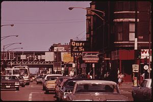 47th station (CTA Green Line) - The station in 1973