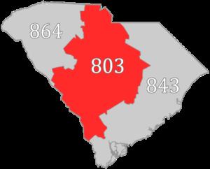 Area code 803 - Image: SC area code 803