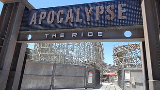 Apocalypse: The Ride - Updated entrance to Apocalypse